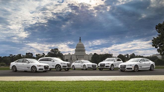 Modely Audi s podvodným třílitrovým šestiválcem TDI.