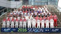 Společné foto jezdců WEC před prvním závodem sezóny 2016