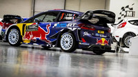 Nový vůz M-Sportu, připravený v dílnách pro Sébastiena Ogiera