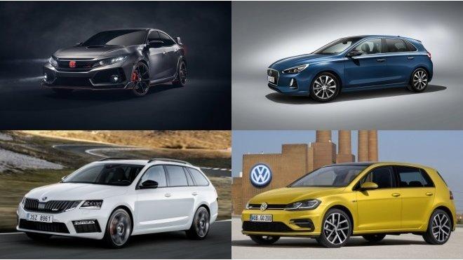 Ostré hatchbacky dostanou nudnou techniku, Lada vstane z mrtvých. A kdo bude letos nahánět Golf? - anotačné foto