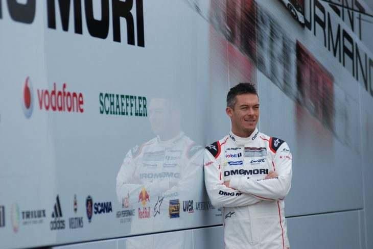 André Lotterer před svým prvním ostrým testem s vozem Porsche 919 Hybrid