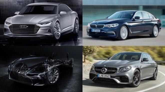 Novinky 2017 mezi vyšší střední třídou a luxusními vozy.
