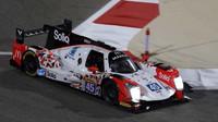 Prototyp Oreca 05 týmu Manor WEC s posádkou Roberto Merhi, Julien Canal, Roberto Gonzales na okruhu Bahrain International Circuit.