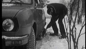 Tekuté sněhové řetězy v dobové reklamě.
