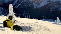 Lewis Hamilton na snowboardu v Coloradu, USA