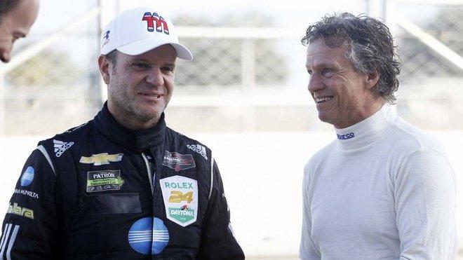 Rubens Barrichello a Jan Lammers