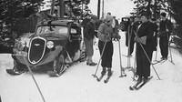 V únoru 1935 Škoda testovala Popular s lyžemi na přední nápravě.