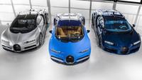 Toto jsou první tři Bugatti Chiron předané zákazníkům..