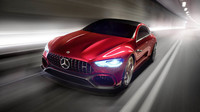 Mercedes-AMG GT Concept ukazuje možnou konkurenci Porsche Panamera.