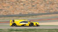 Prototyp Dallara při předsezónním testu pneumatik Dunlop ve španělském Aragonu