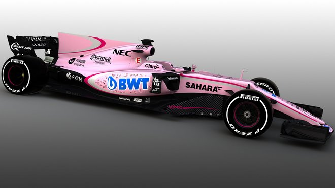 Růžová Force India VJM10
