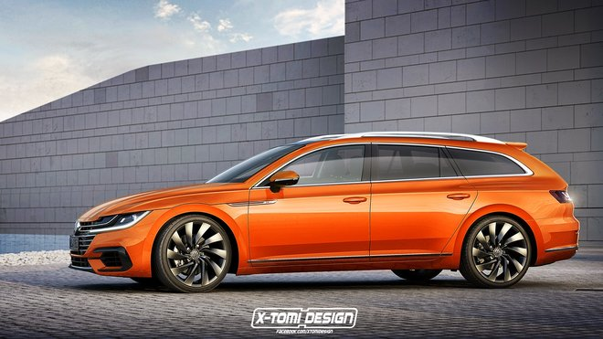 Počítačová animace Volkswagenu Arteon Variant od X-Tomi Design