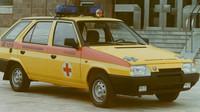 Škoda má s výrobou sanitních vozů velké zkušenosti. Na snímku úprava modelu Favorit
