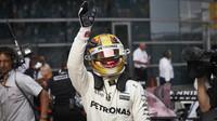Lewis Hamilton po kvalifikaci v Číně