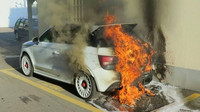 Audi A1 Quattro postihl požár