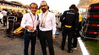 Alain Prost před závodem v Bahrajnu