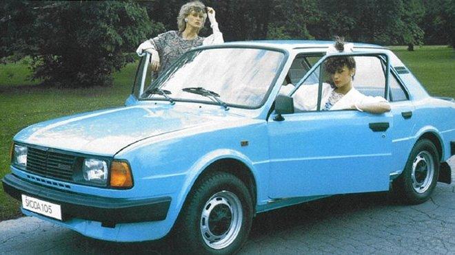 Škoda 105 na dobovém reklamním letáky