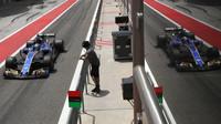 Marcus Ericsson při sezónních testech v Bahrajnu