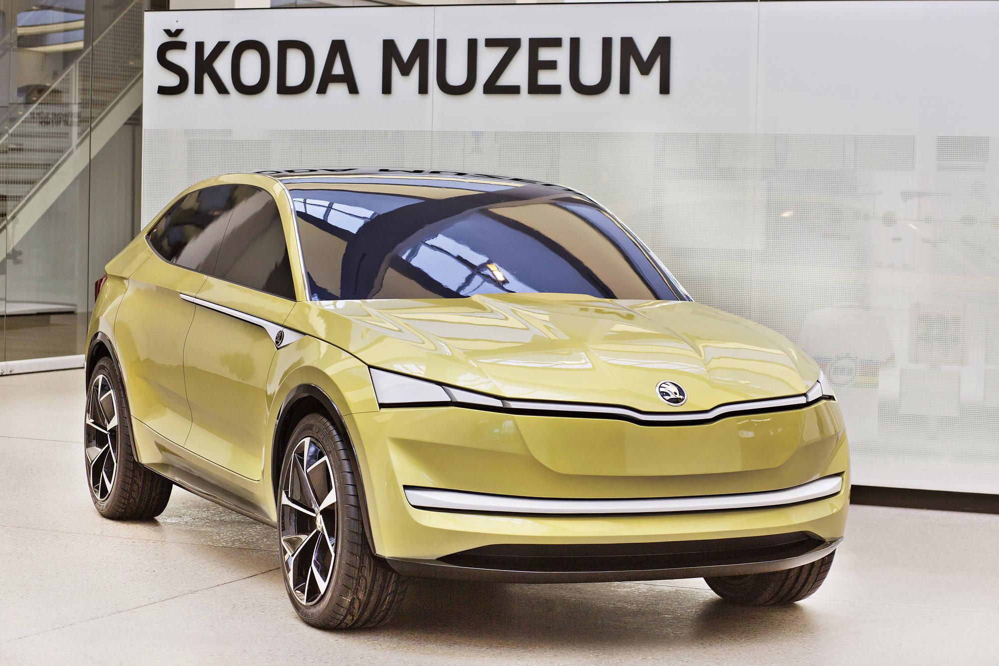 Lakovaný hliněný model Škoda Vision E si můžete prohlédnout v muzeu mladoboleslavské automobilky od 21. dubna do 12. května