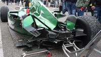 Jaguar R5 Klaase Zwarta po sobotní nehodě.