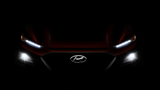 Hyundai poodhalila přední masku nového SUV Kona