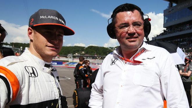 Stoffel Vandoorne a Eric Boullier