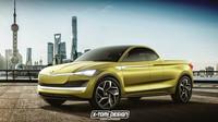 Škoda Vision E v provedení pick-up vypadá velice zajímavě