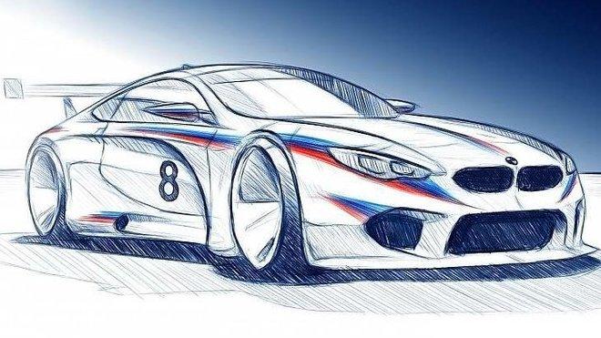 Nákres možné podoby modelu BMW M8 GTE určeného pro závody WEC