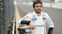 Fernando Alonso před testem v Indianapolis