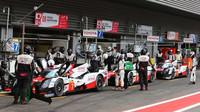 Garáže týmu Toyota GAZOO Racing v belgickém SPA-Francorchamps