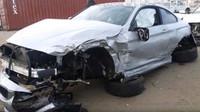 BMW 4 po těžké nehodě
