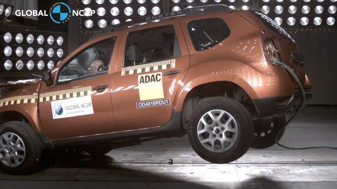 Indická Dacia Duster propadla u testů bezpečnosti