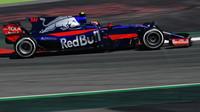 Carlos Sainz při tréninku v Barceloně
