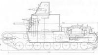 Nákresy projektu tanku s otáčivou věží a nástavkem