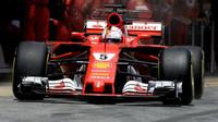 Sebastian Vettel v závodě v Barceloně