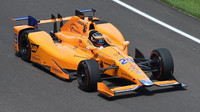 Fernando Alonso během svého prvního vystoupení v závodě Indy 500 v roce 2017