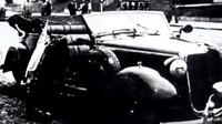 Heydrichův poškozený Mercedes-Benz 320 Cabriolet B