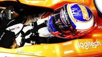 Jenson Button při tréninku v Monaku