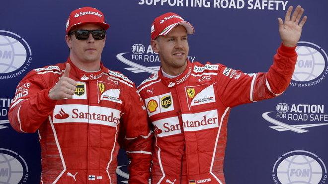 Kimi Räikkönen a Sebastian Vettel po kvalifikaci v Monaku