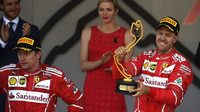 Sebastial Vettel a Kimi Räikkönen po závodě v Monaku