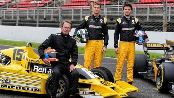Filmovacího dne stáje Renault F1 se zúčastnili Jean Pierre Jabouille s prvním monopostem Renault F1 z roku 1978