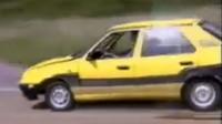 Škoda Felicia během továrního testování