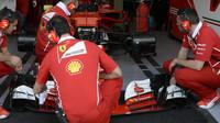 Přípravy týmu Ferrari na tréninky v Kanadě
