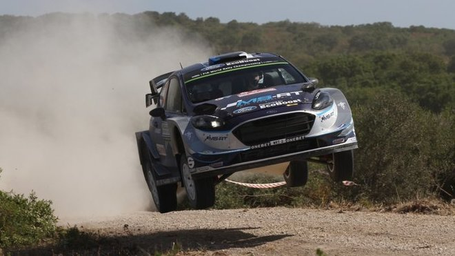 Tänak na Sardinii získal svoje první vítězství v MS s vozem WRC