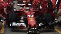 Kimi Räikkönen při tréninku v Kanadě