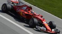 Kimi Räikkönen v kvalifikaci v Kanadě