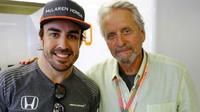 Fernando Alonso a Michael Douglas v Kanadě