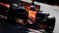 Fernando Alonso v kvalifikaci v Kanadě