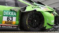 Takhle vypadal Ineichenův Grasser-Lamborghini po sobotní kvalifikaci. Kdo by řekl, že tento vůz v neděli vyhraje..?