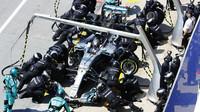 Valtteri Bottas v závodě v Kanadě